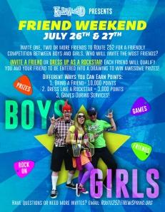 Final Friend Weekend Poster