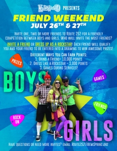 Final Friend Weekend Poster